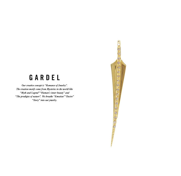 GARDEL GDP-117S/K18YG FRAGRANCE FEATHER PENDANT