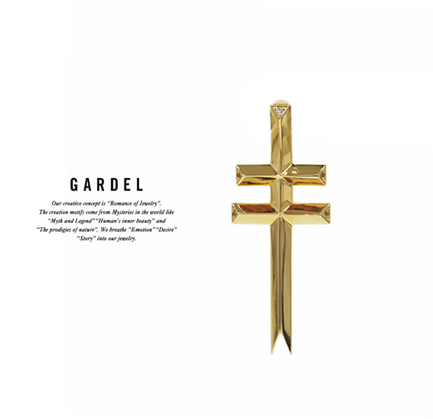 GARDEL GDP-118/K18YG DOUBLE BARRED CROSS