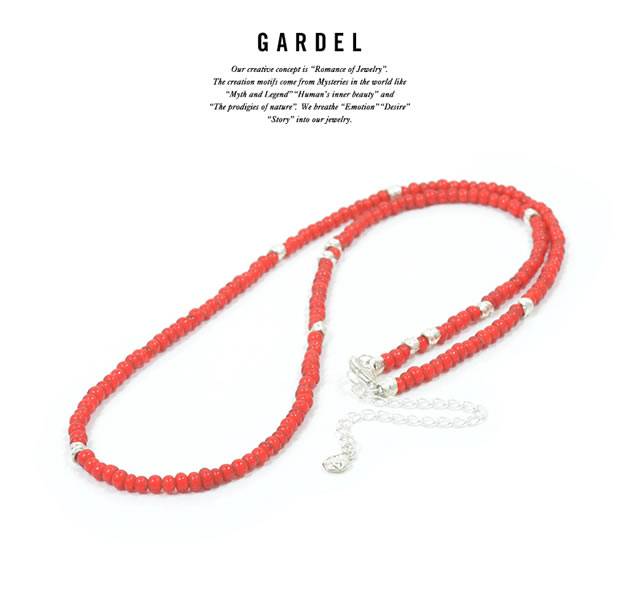 GARDEL GDP-123/RED WHITE HEARTS NECKLACE