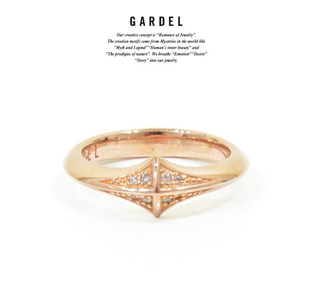 GARDEL GDR-081/PINK TRINITY STUDS RING