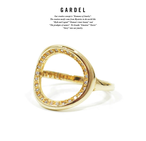 GARDEL GDR-084/K18YG CRAFFITI RING