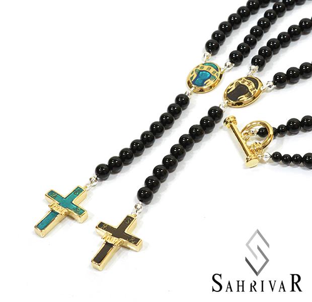 SAHRIVAR SN95B15A Enameled Rosary