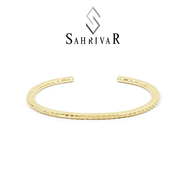 SAHRIVAR SB44B15A STUDS THIN BANGLE
