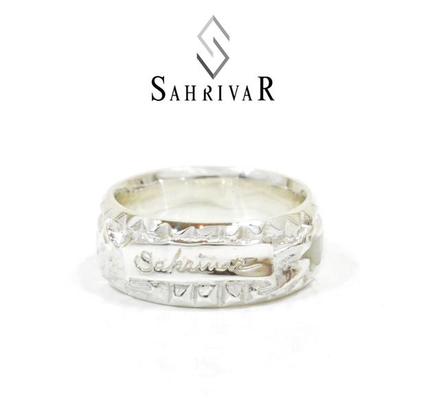 SAHRIVAR SR74S15A STUDS ENAMELED RING
