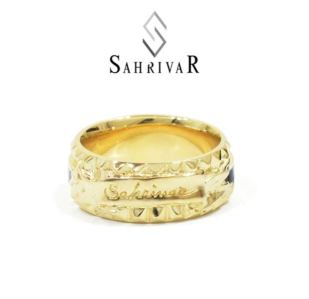 SAHRIVAR SR76B15A STUDS ENAMELED RING