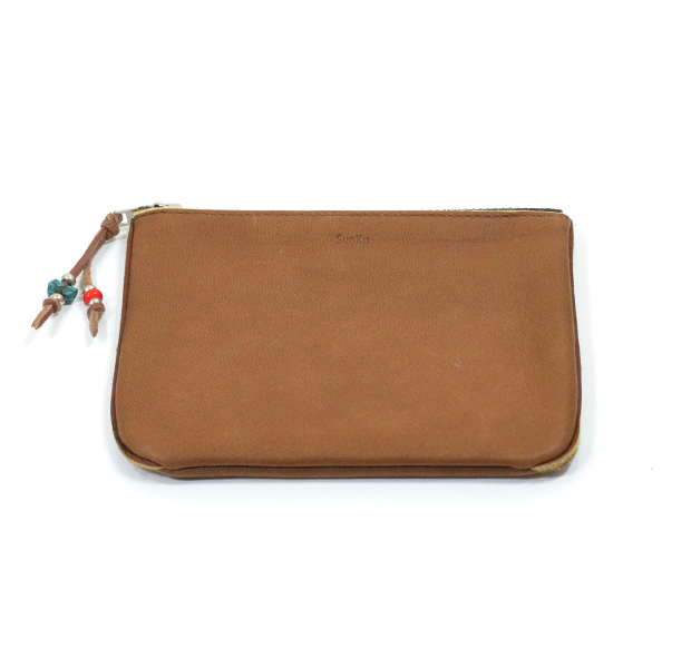 Sunku SK-132 BROWN DEER LEATHER WALLET
