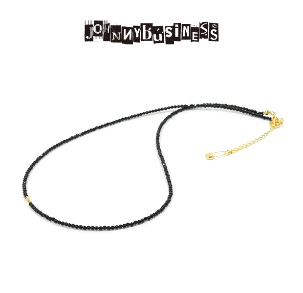 JOHNNY BUISINESS JN06B16S Basic Black Necklace Gold on Bras