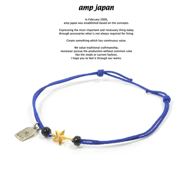 amp japan 10ah-210g/BLUE Gold star Brece & Anklet
