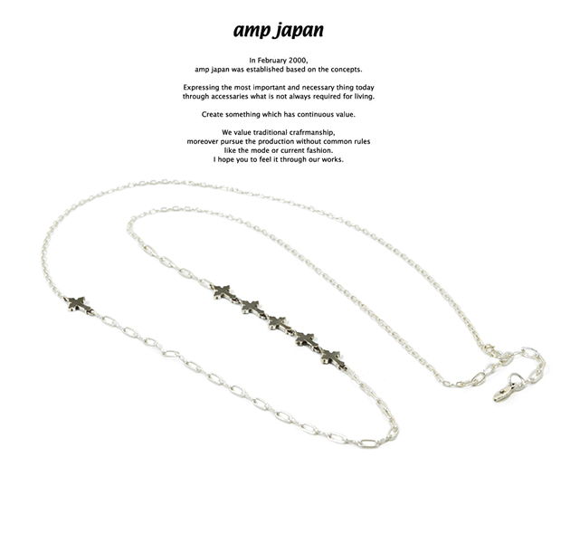 amp japan 16AC-103 Petite Croix Chain Necklace