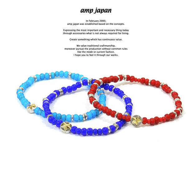 amp japan 16AHK-445 White Hearts Circle Star Bracelet
