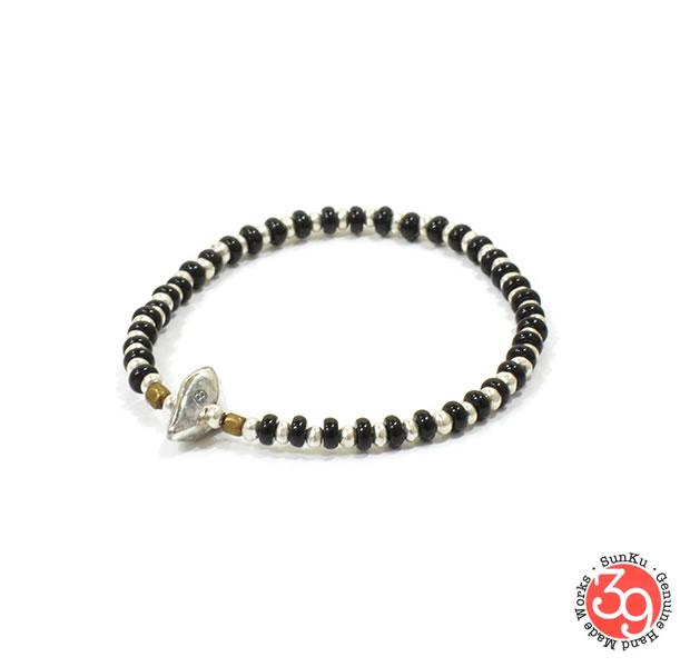 Sunku SK-153 Onyx x Silver 1 Roll Bracelet