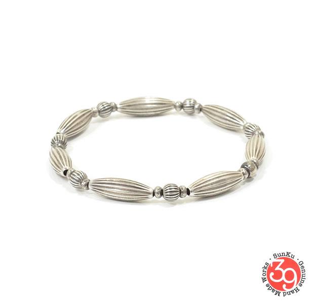 Sunku SK-163 Silver Line Pipe 1 Roll Bracelet