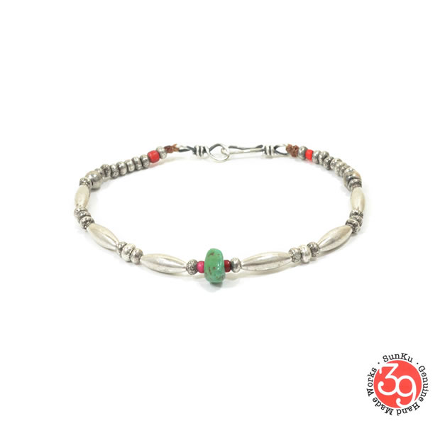 Sunku SK-167 Silver x Turquoise Bracelet