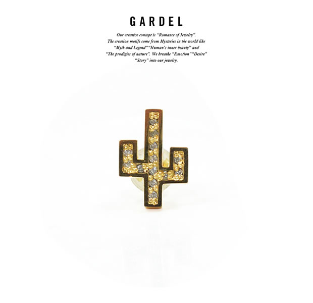 GARDEL GDE-053 K18YG Cactus Pierce