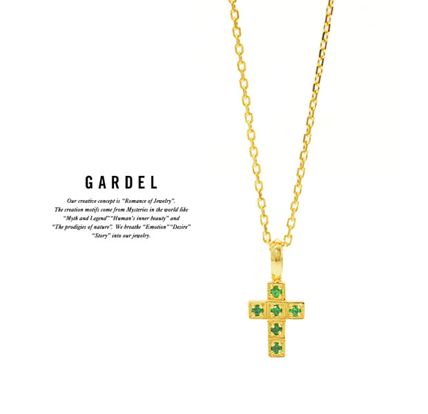 GARDEL GDP-130 K18YG Fragrance Cross Necklace
