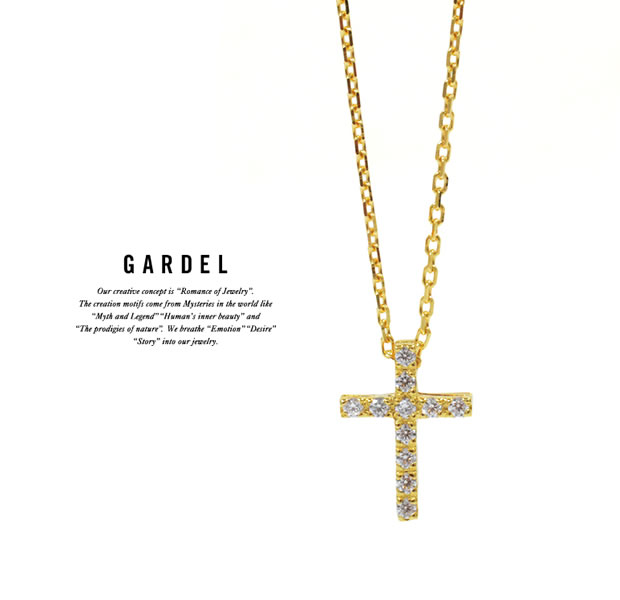 GARDEL GDP-146 K18YG P.O.P Cross Necklace S