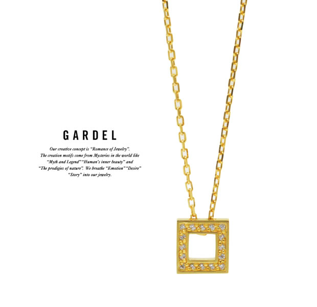 GARDEL GDP-142 K18YG TO,ME,Collection Square Necklace