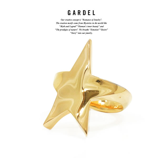 GARDEL GDR-093 K18YG Nature Star Ring