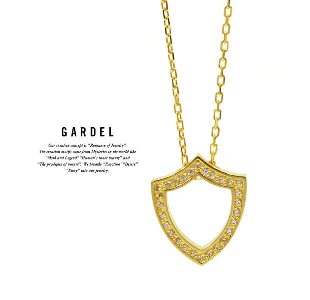 GARDEL GDP-140 K18YG TO,ME,Collection Shield Necklace