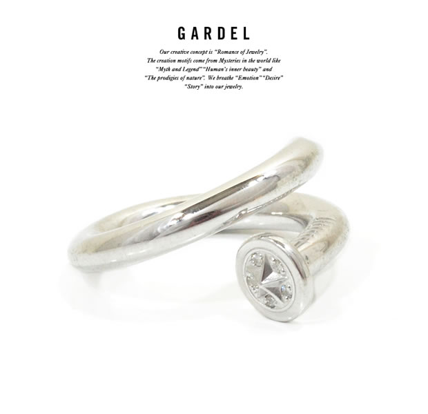 GARDEL GDR-099 SILVER Courage Ring