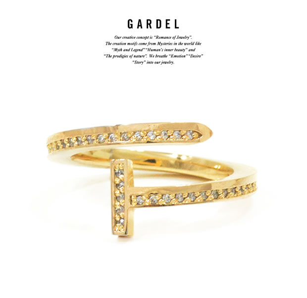 GARDEL GDR-100 K18YG Courage Ring