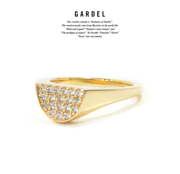 GARDEL GDR-098 K18YG Graffiti Ring B