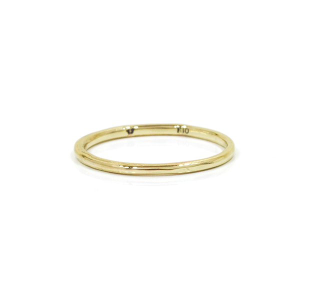 """UNKNOWN. U001 """" NORM """" XS RING / K10GOLD"""