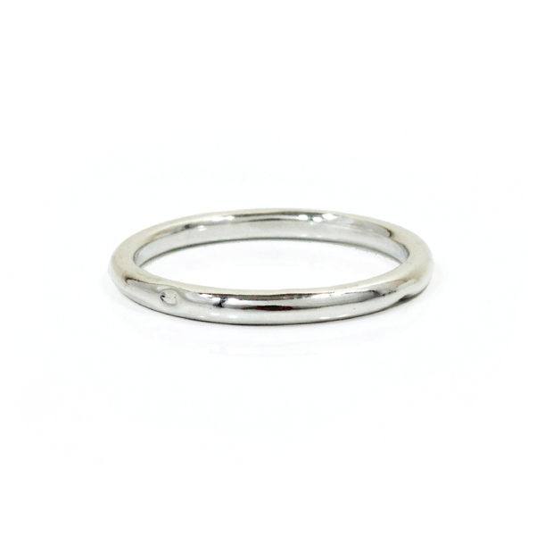 """UNKNOWN. U003 """" NORM """" M RING / SILVER"""