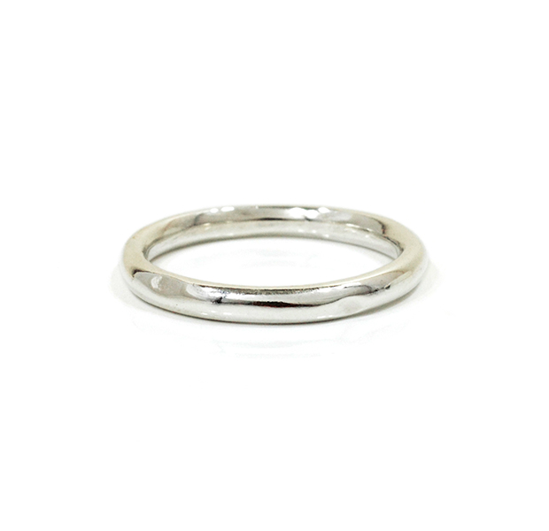 """UNKNOWN. U004 """" NORM """" L RING / SILVER"""