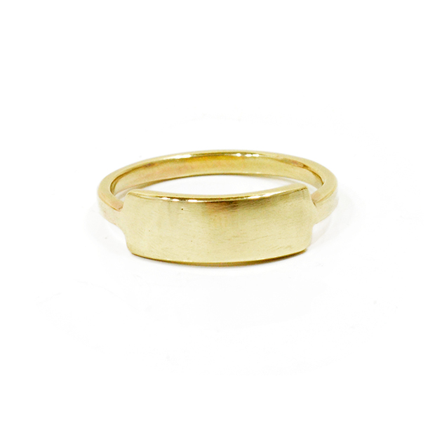"UNKNOWN. U018 "" I.D "" RING / K10GOLD"