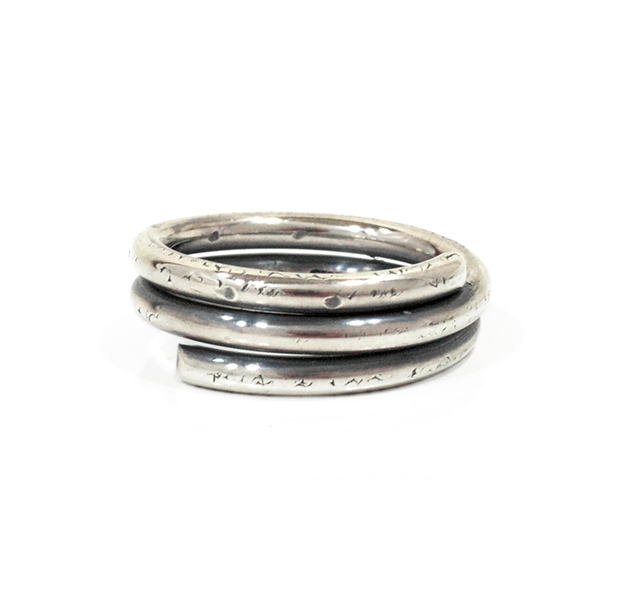 "UNKNOWN. U027 "" WIND "" M RING / SILVER"