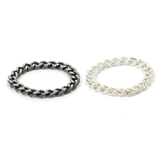 "UNKNOWN. U030 "" CHAIN "" S RING / SILVER"
