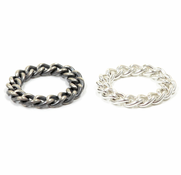 "UNKNOWN. U031 "" CHAIN "" M RING / SILVER"