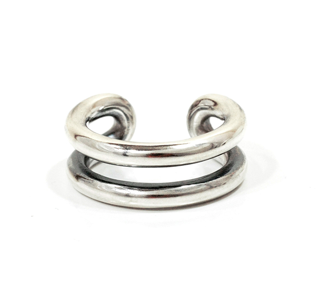 """UNKNOWN. U025 """" MORTISE """" M RING / SILVER"""