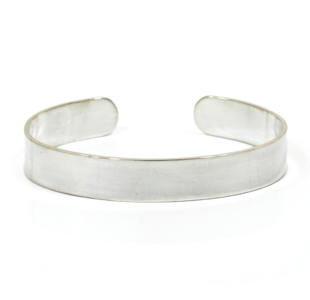 "UNKNOWN. U217 ""FLAT "" 10mm BANGLE / SILVER"