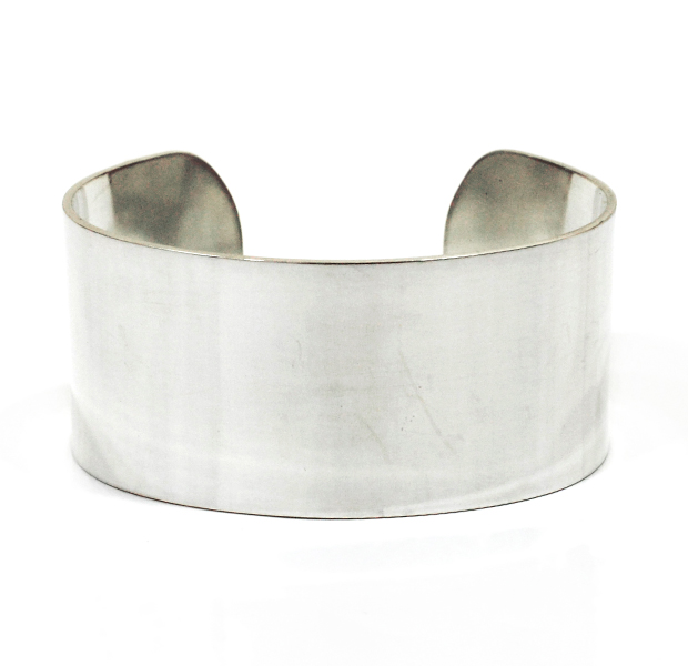"UNKNOWN. U220 ""FLAT "" 30mm BANGLE / SILVER"