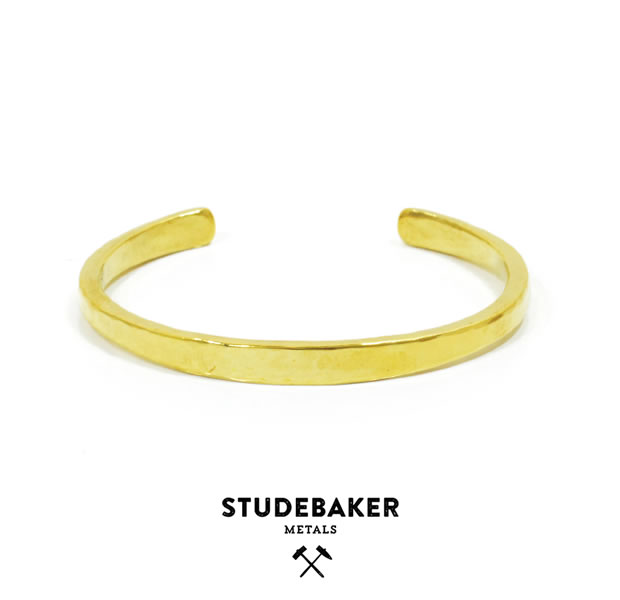 STUDEBAKER METALS WORKSHOP CUFF AMERICAN BRASS/HI POLISH