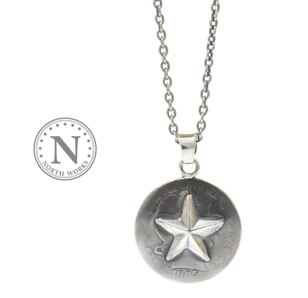 NORTH WORKS N-511 25 cent One Star Necklace