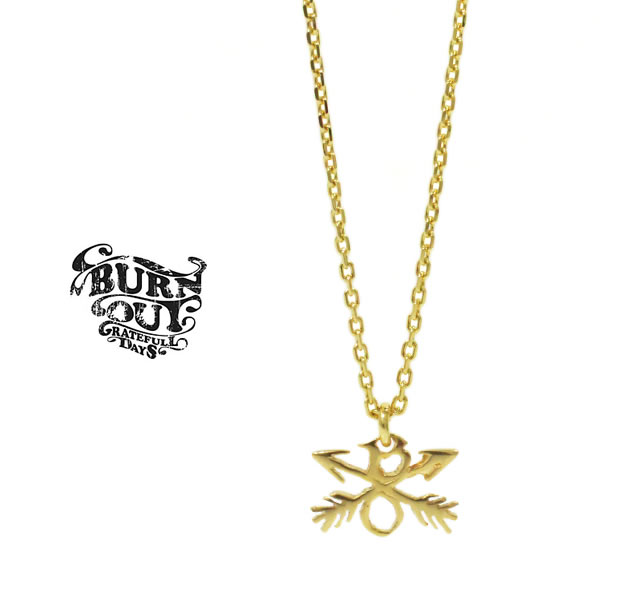BURNOUT E54G08BF CROSSED ARROWS CHARM NECKLACE K18 GP