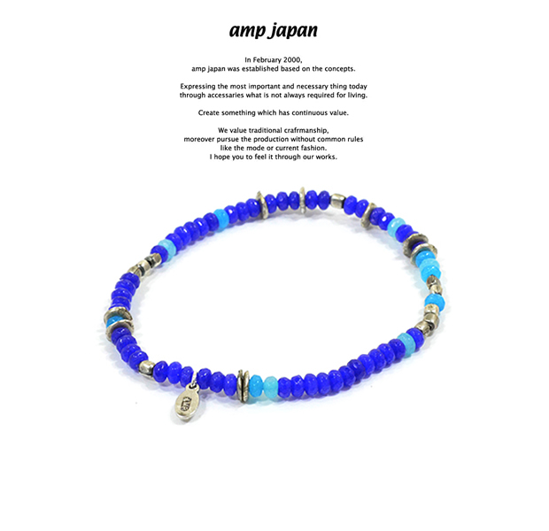 amp japan 16AHK-470BL Color Quartz Bracelet - Deep Sea -