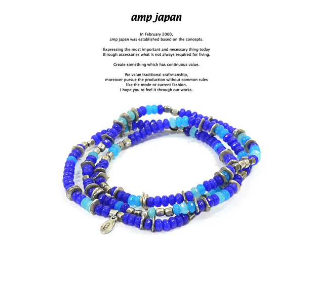 amp japan 16AHK-471BL Color Quartz Bracelet & Necklace - Deep Sea -