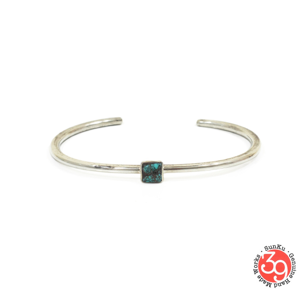 Sunku SK-190 Roller Press Bangle (M)W/Turquoise