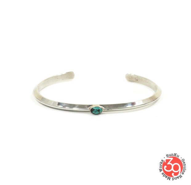 Sunku SK-193 Triangle Bangle (S)W/Turquoise