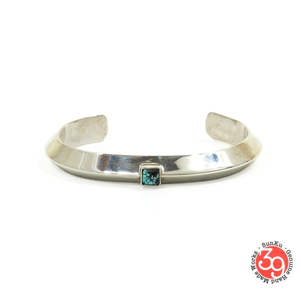 Sunku SK-195 Triangle Bangle (L)W/Turquoise