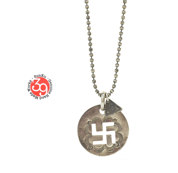 "Sunku SK-095 Cut Plate Necklace ""Swastika"""