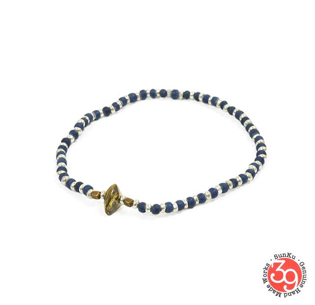 Sunku SK-187 Silver x Beads Anklet