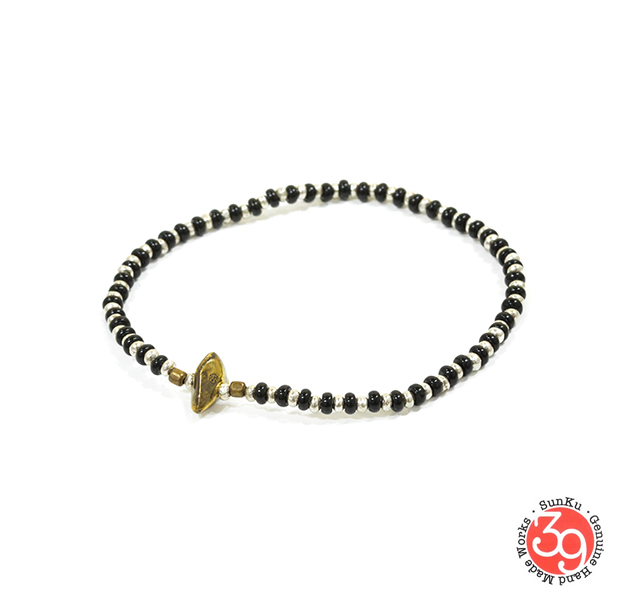 Sunku SK-188 Silver x Beads Anklet