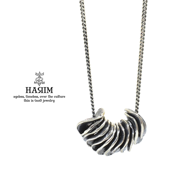 HARIM HRP116SV Distorted Disk Chain Necklace SV