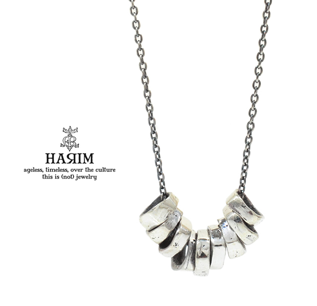HARIM HRP118SV Rock Beads Chain Necklace