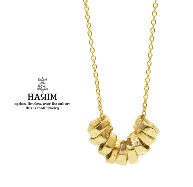 HARIM HRP118GP Rock Beads Chain Necklace
